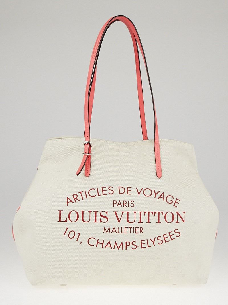louis vuitton corail cotton canvas articles de voyage cabas mm bag yoogi 39 s closet. Black Bedroom Furniture Sets. Home Design Ideas