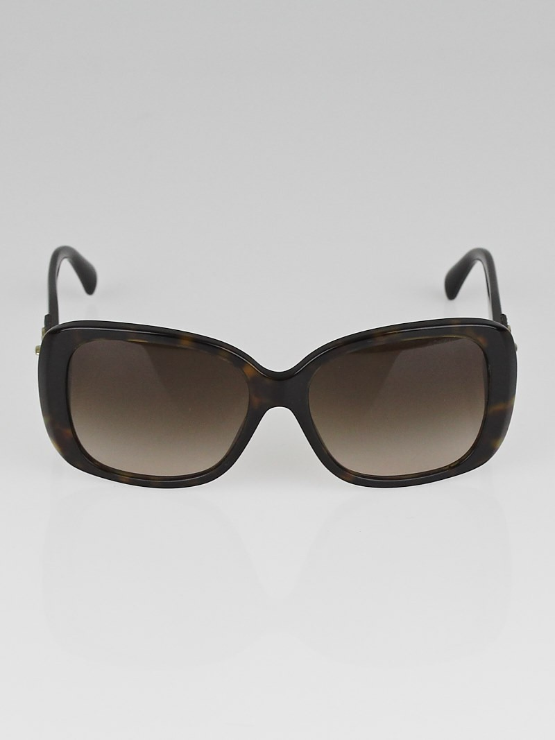 Chanel Tortoise Shell Square Frame CC Sunglasses-5234-Q ...