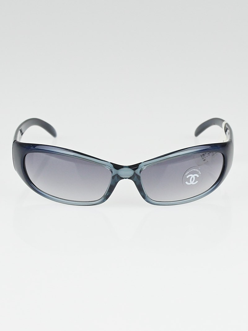 Chanel Blue Frame Glasses : Chanel Blue Frame Wrap Around CC Sunglasses - 6004 - Yoogi ...