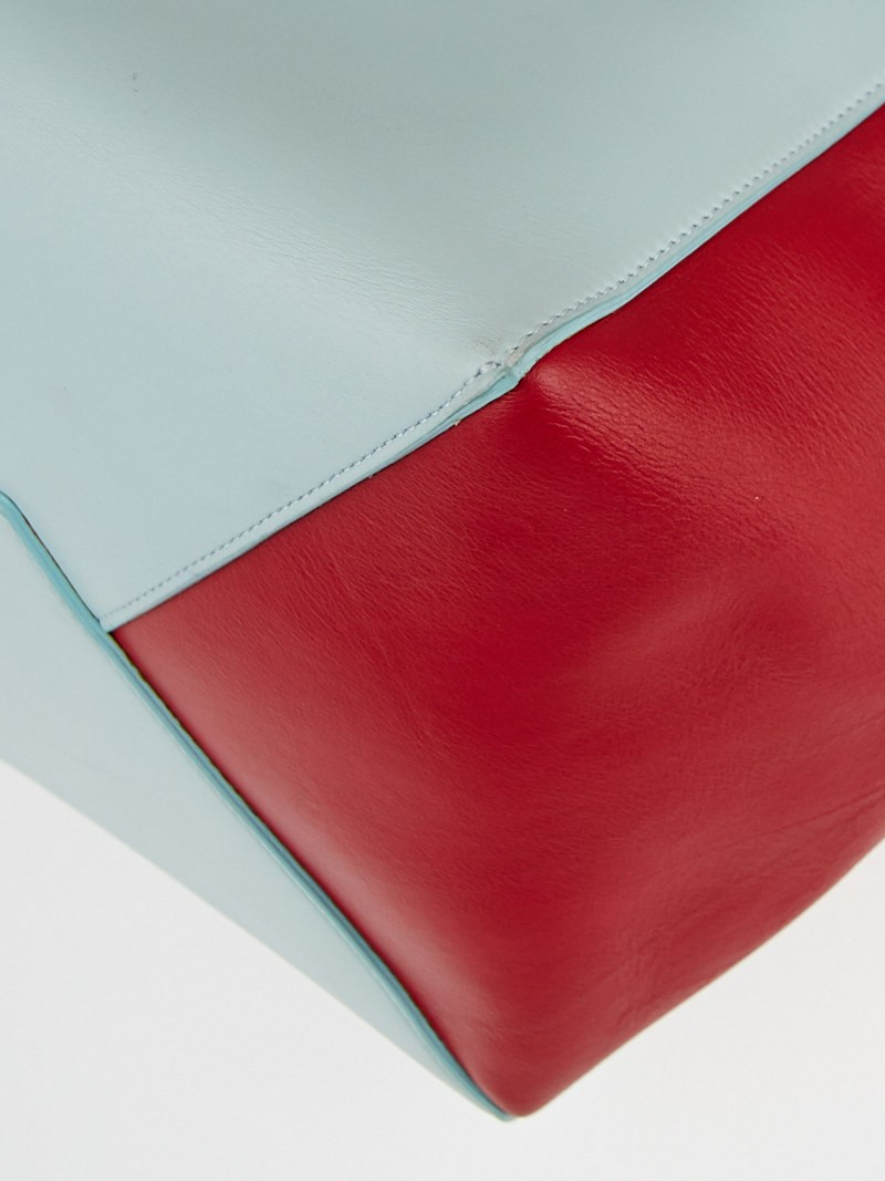 Celine Glacier/Red Lambskin Leather Horizontal Phantom Medium ...
