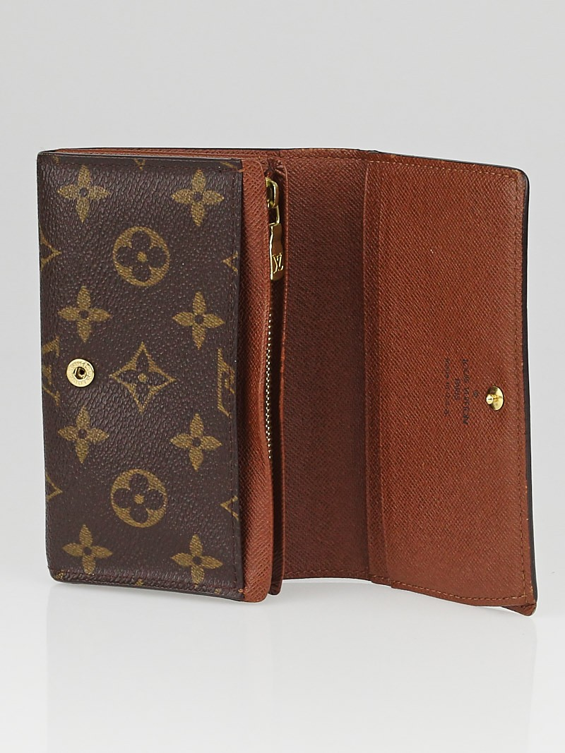 louis vuitton monogram canvas porte monnaie tresor wallet