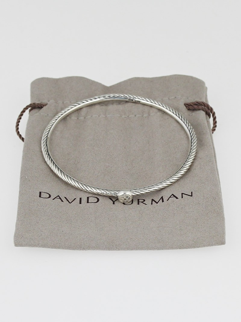 David yurman sterling silver and diamond confetti bangle for David yurman like bracelets