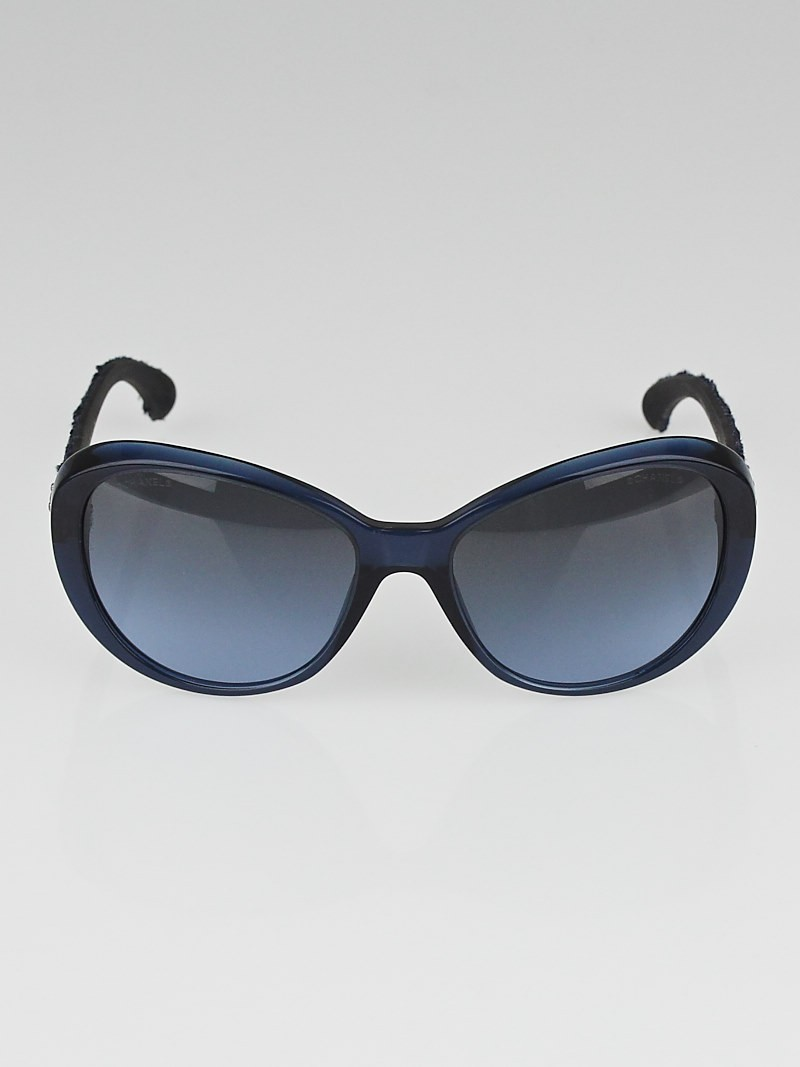 Chanel Blue Frame Glasses : Chanel Navy Blue Frame and Tweed Sunglasses-5241 - Yoogis ...