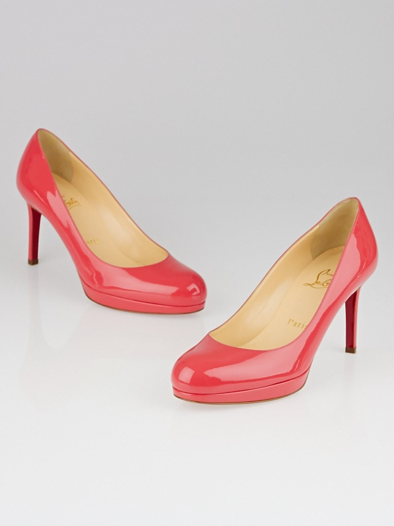 Christian Louboutin Pink Patent Leather New Simple 85 Pumps Size ...