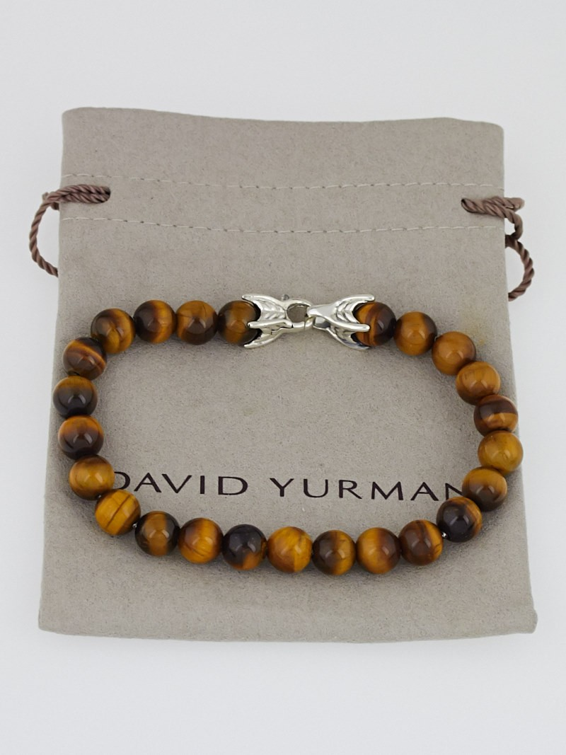 David yurman 8mm tiger 39 s eye spiritual bead bracelet for David yurman like bracelets