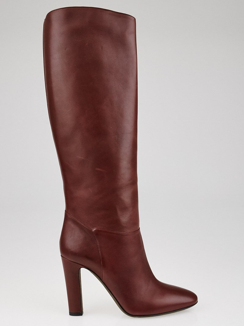 valentino brown leather boots size 7 5 38 yoogi s