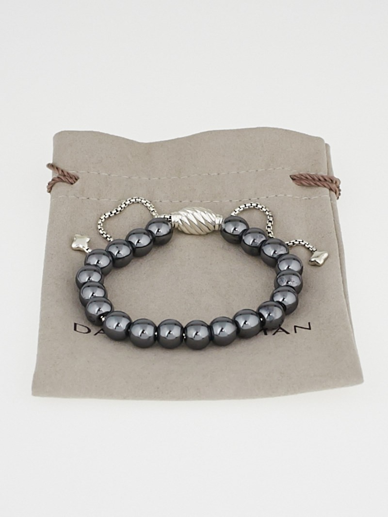 David yurman 8mm hematite spiritual bead adjustable for David yurman like bracelets