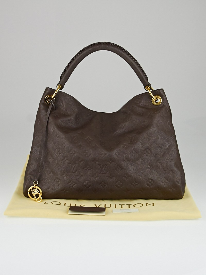 Louis vuitton terre monogram empreinte leather artsy mm for Louis vuitton miroir bags