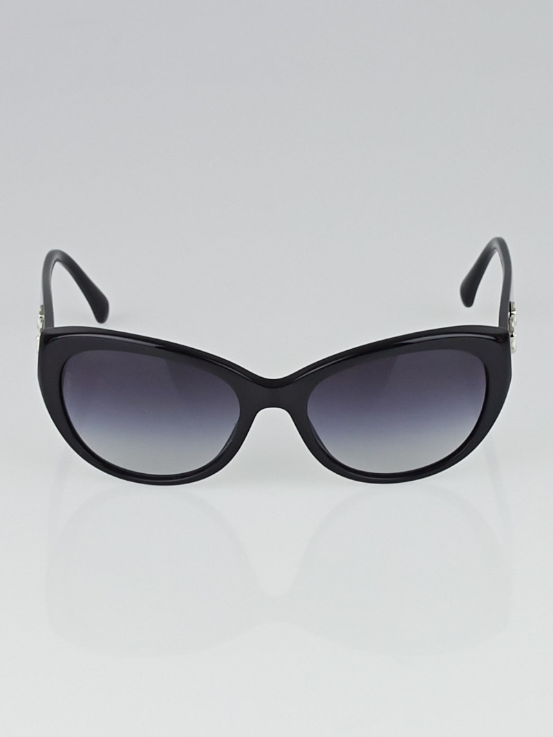 Chanel Black Frame Camellia Sunglasses-5187 - Accessories ...