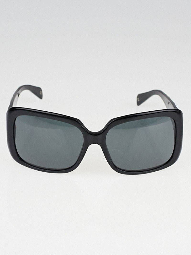 Chanel Glasses Frame Malaysia : Chanel Black Frame Quilted CC Crystal Sunglasses-5149 ...