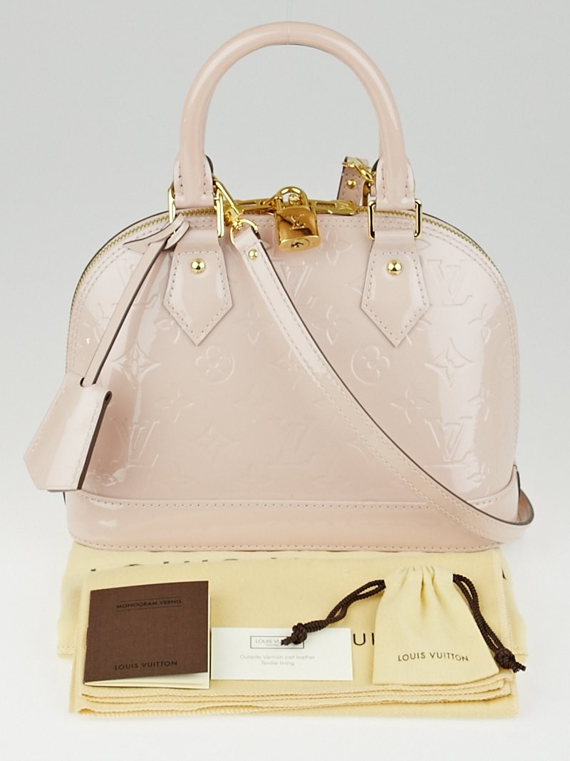 Louis vuitton rose angelique monogram vernis alma bb bag for Louis vuitton miroir alma bag price