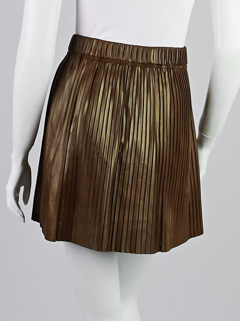 marant brown pleated lambskin leather carla mini