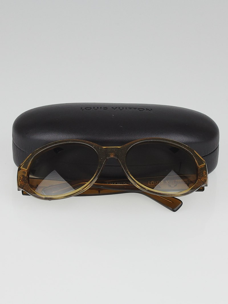 Louis Vuitton Gold Frame Sunglasses : Louis Vuitton Gold Speckling Acetate Frame Obsession Round ...