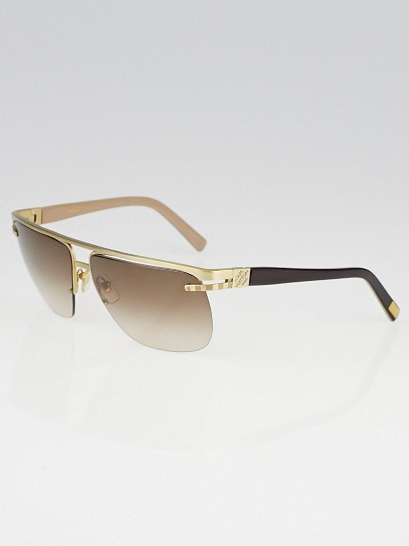 louis vuitton goldtone metal frame possession sunglasses z0268u
