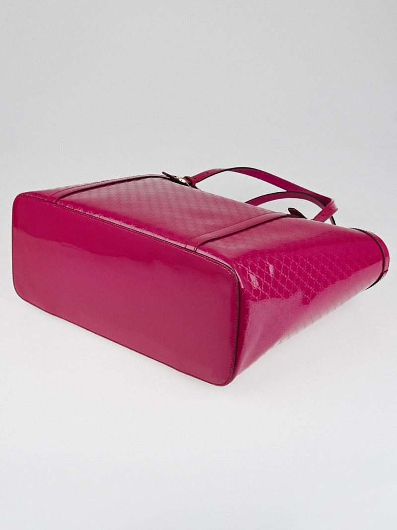 Gucci Hot Pink Microguccissima Patent Leather Nice Tote ...