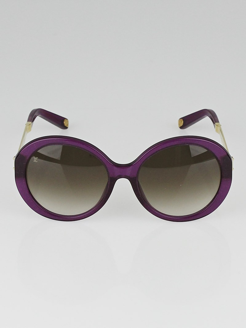 Louis Vuitton Gold Frame Sunglasses : Louis Vuitton Violet/Gold Frame Petit Soupcon Sunglasses ...