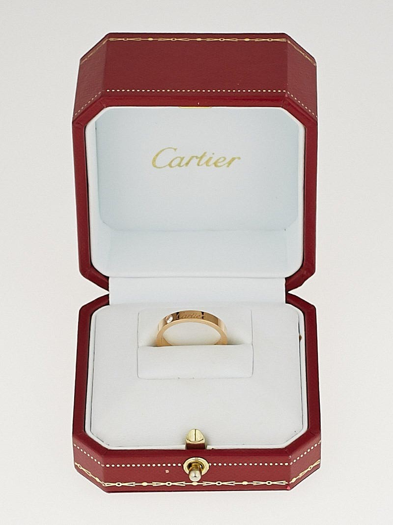 cartier 18k rose gold engraved wedding band size 51 5 75 cartier wedding bands Cartier 18k Rose Gold Engraved Wedding Band Size 51 5 75