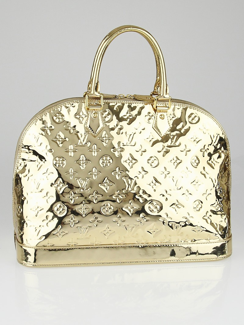 Louis vuitton limited edition gold monogram miroir alma mm for Louis vuitton monogram miroir