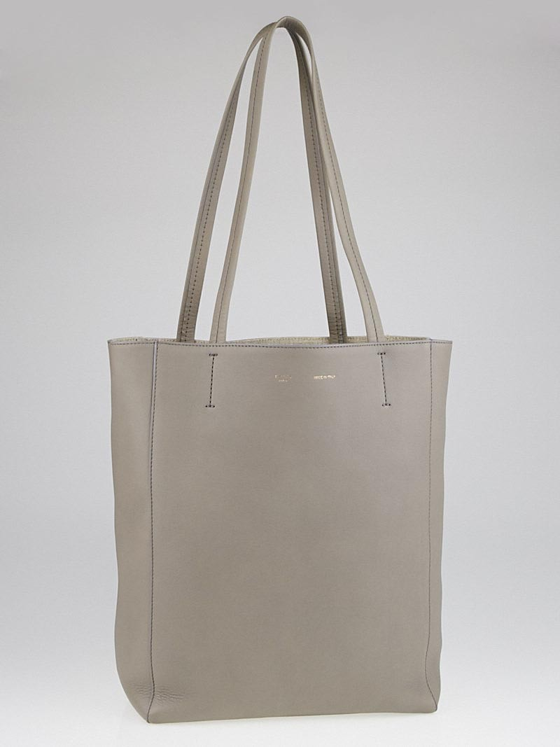 Celine Grey Calfskin Leather Phantom Small Cabas Tote Bag ...