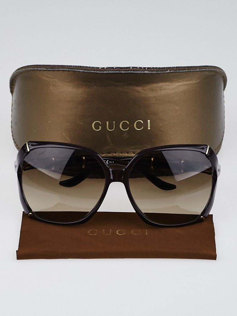 Gucci Bamboo Frame Glasses : Gucci Purple Frame Bamboo Sunglasses-3508/S - Yoogis Closet