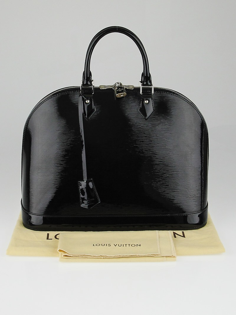Louis vuitton black electric epi leather alma gm bag for Louis vuitton miroir alma bag price