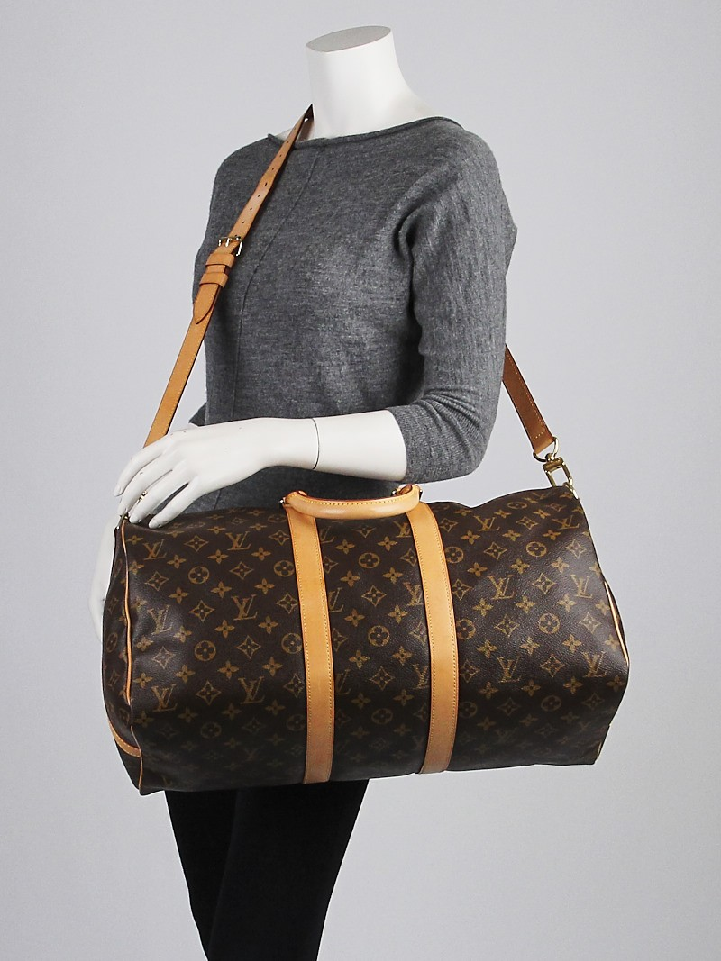 louis vuitton monogram canvas keepall bandouliere 45 bag yoogi 39 s closet. Black Bedroom Furniture Sets. Home Design Ideas