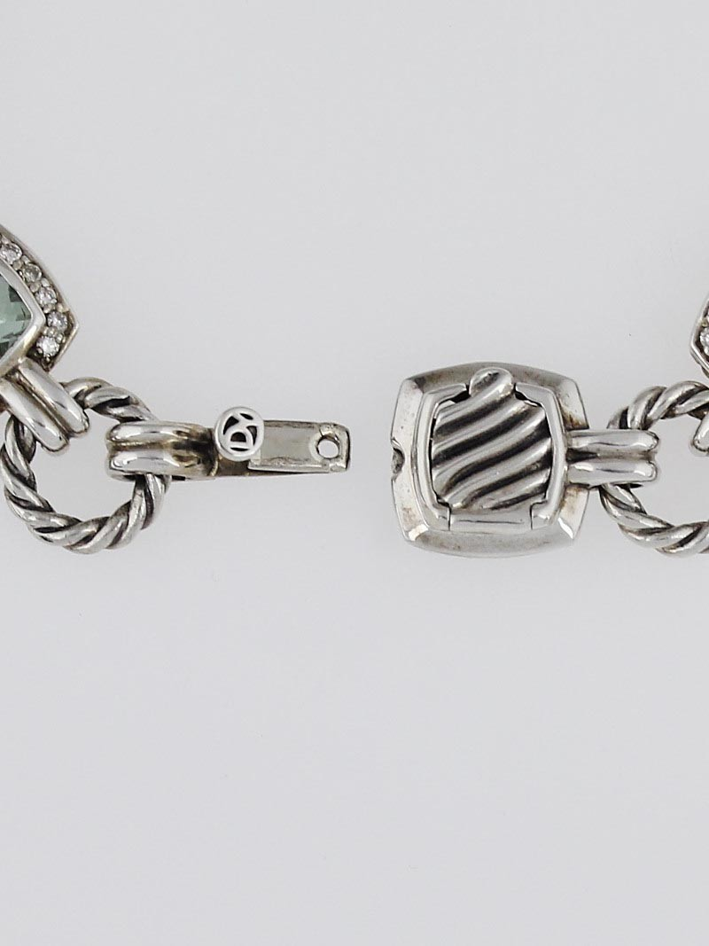 David yurman sterling silver prasiolite and diamond for David yurman like bracelets