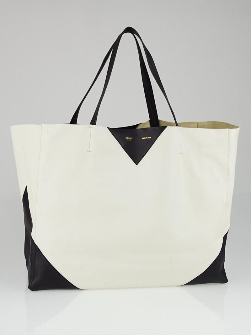 celine horizontal bi-color cabas tote