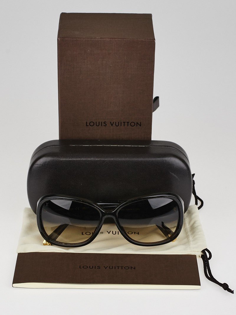 louis vuitton brown speckling acetate frame obsession gm sunglasses-z0459w