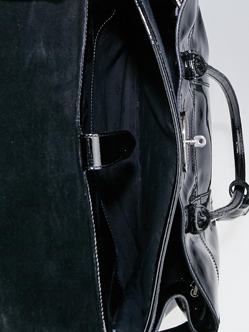 Mulberry Black Patent Leather Laptop Bayswater Bag