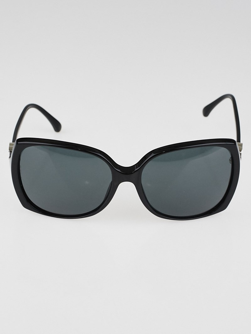 Chanel Big Frame Glasses : Chanel Black Square Oversized Frame CC Sunglasses 5216 ...