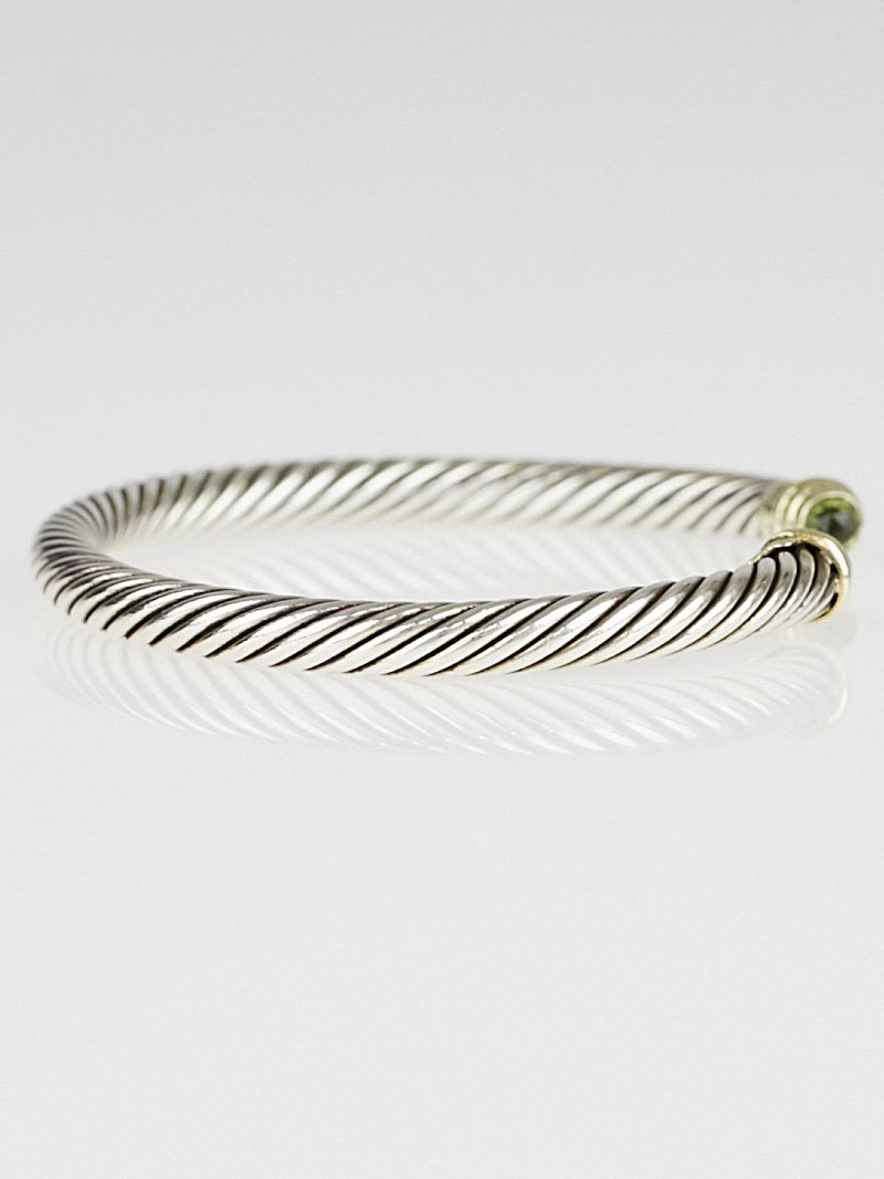 David yurman 5mm sterling silver and peridot cable for David yurman inspired bracelet cable