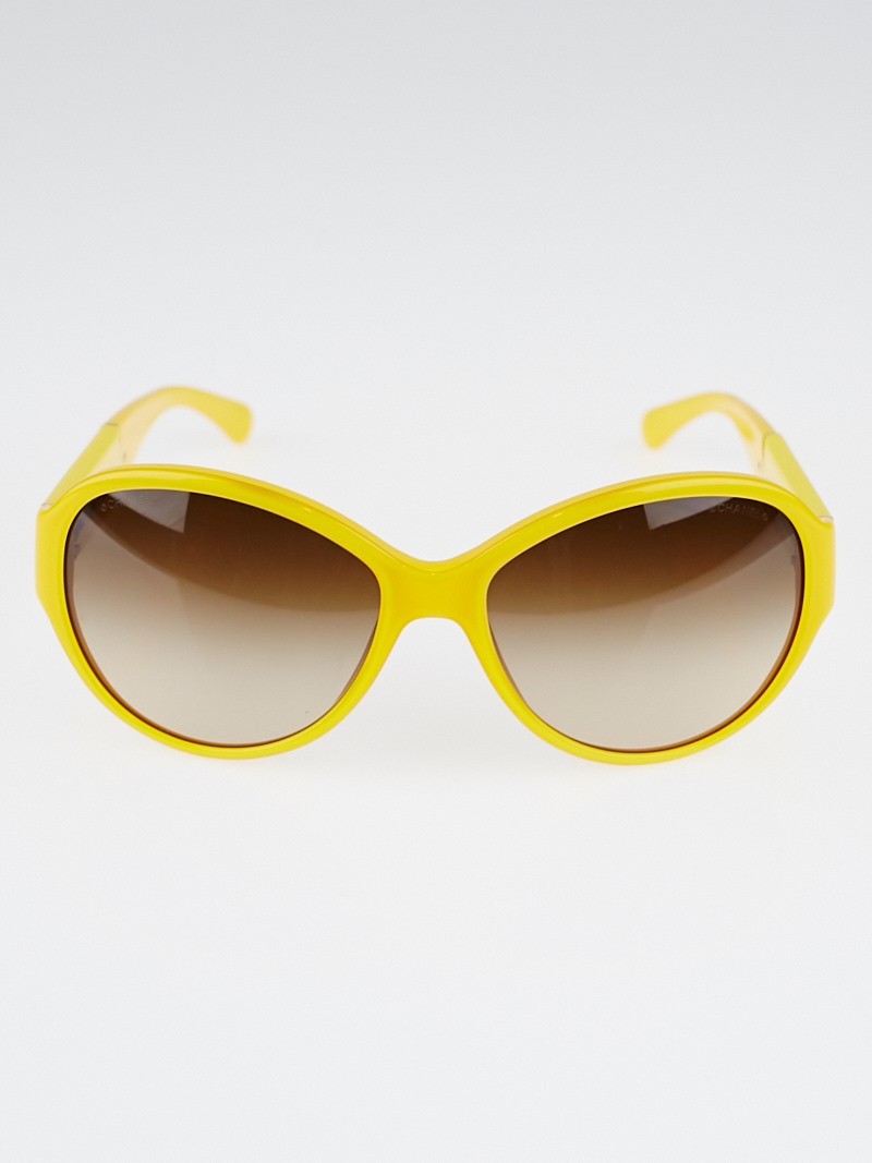 Yellow Frame Sunglasses : Chanel Yellow Frame CC Logo Sunglasses - 5229Q - Yoogis ...