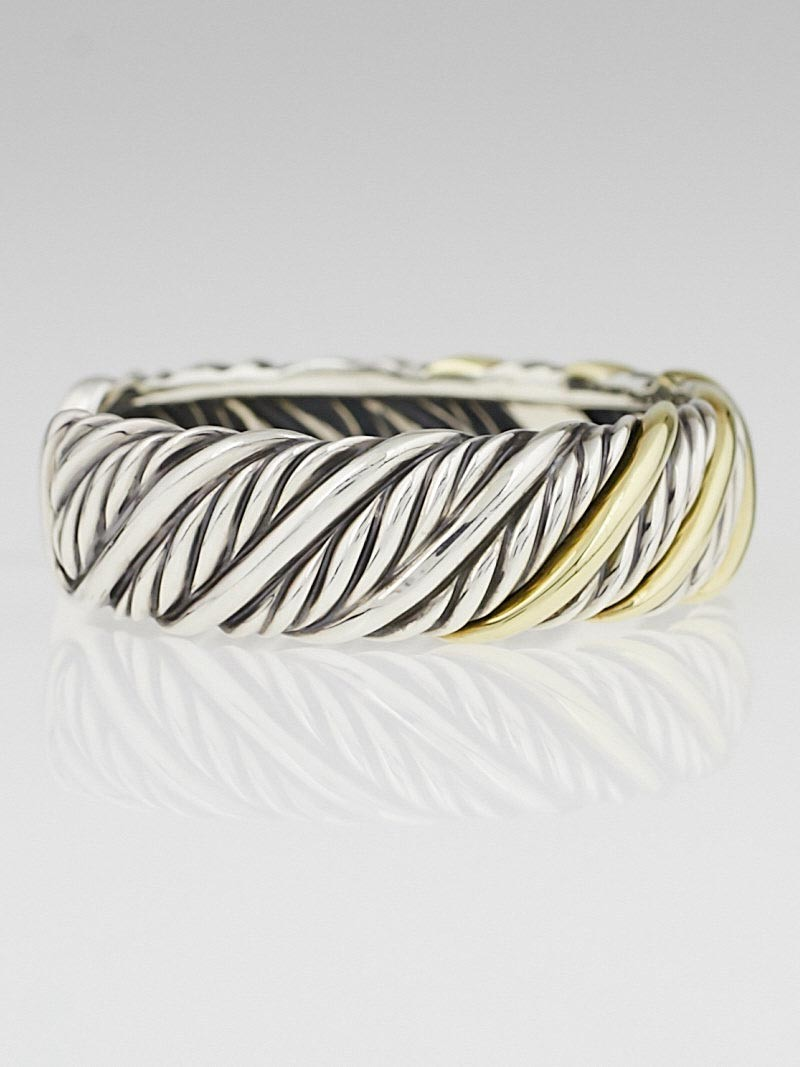 David yurman sterling silver and 18k cable cuff bracelet for David yurman like bracelets