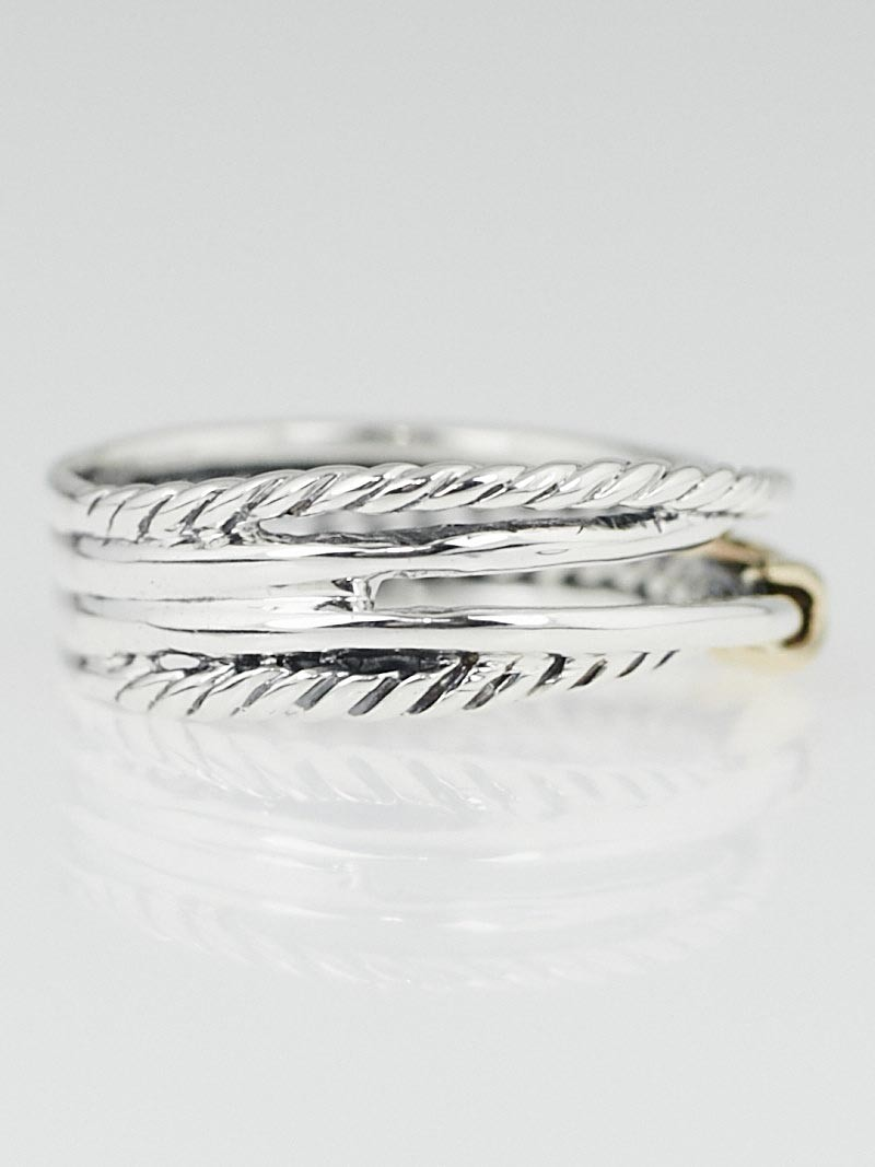 david yurman 18k gold and sterling silver cable crossover