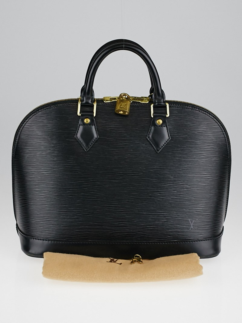 Louis vuitton black epi leather alma pm bag yoogi 39 s closet for Louis vuitton miroir alma bag price