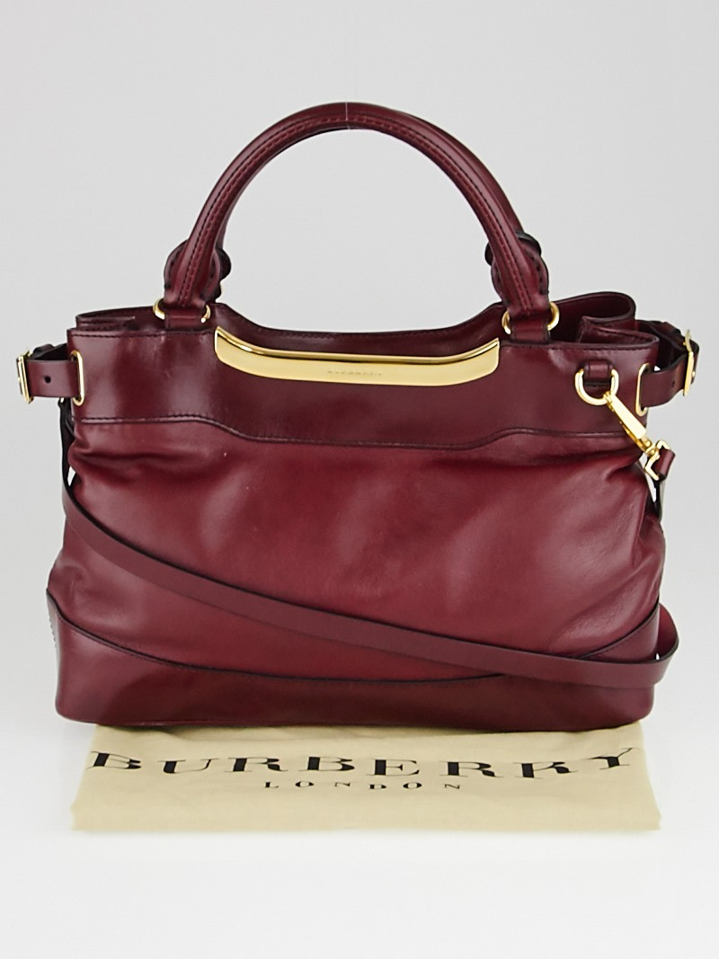 burberry red leather small hepburn satchel bag yoogis