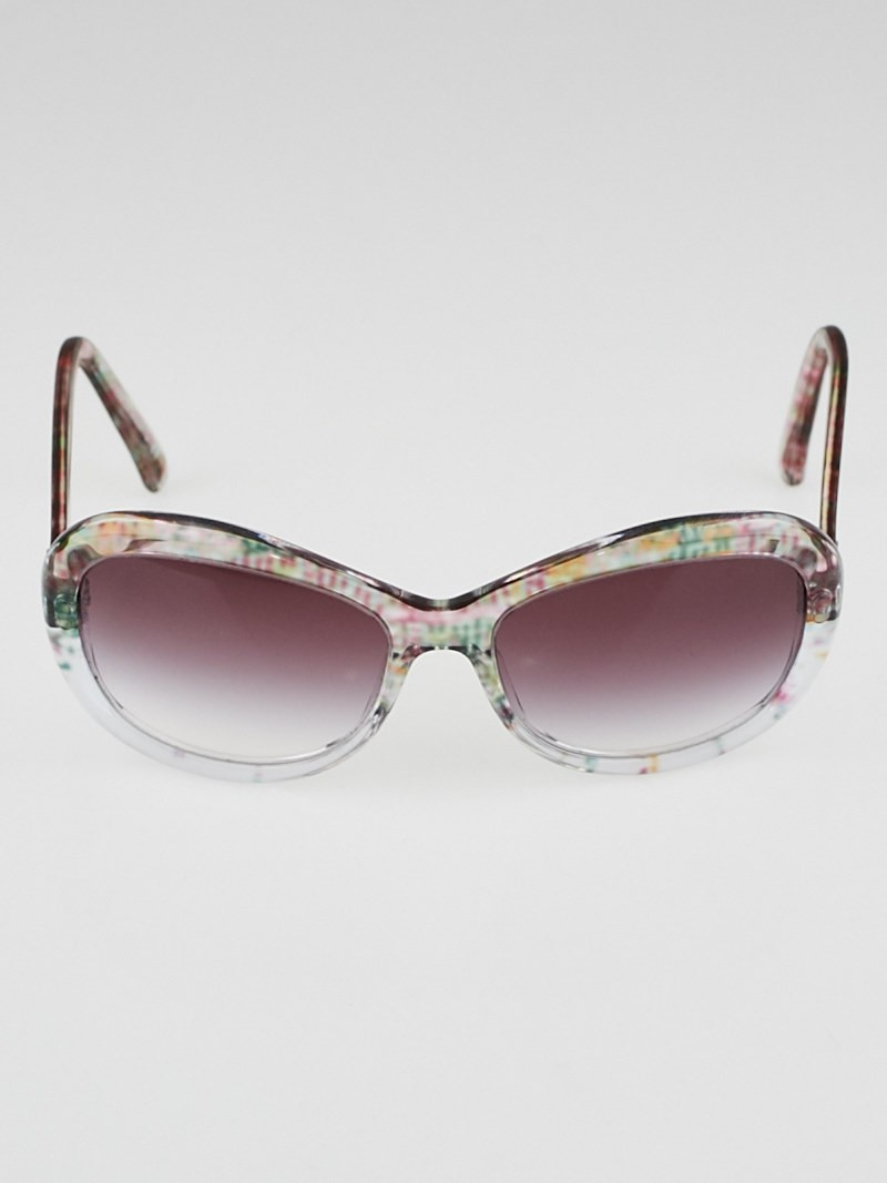 Chanel Clear Frame Glasses : Chanel Multicolored Clear Resin Frame Gradient Tint CC ...