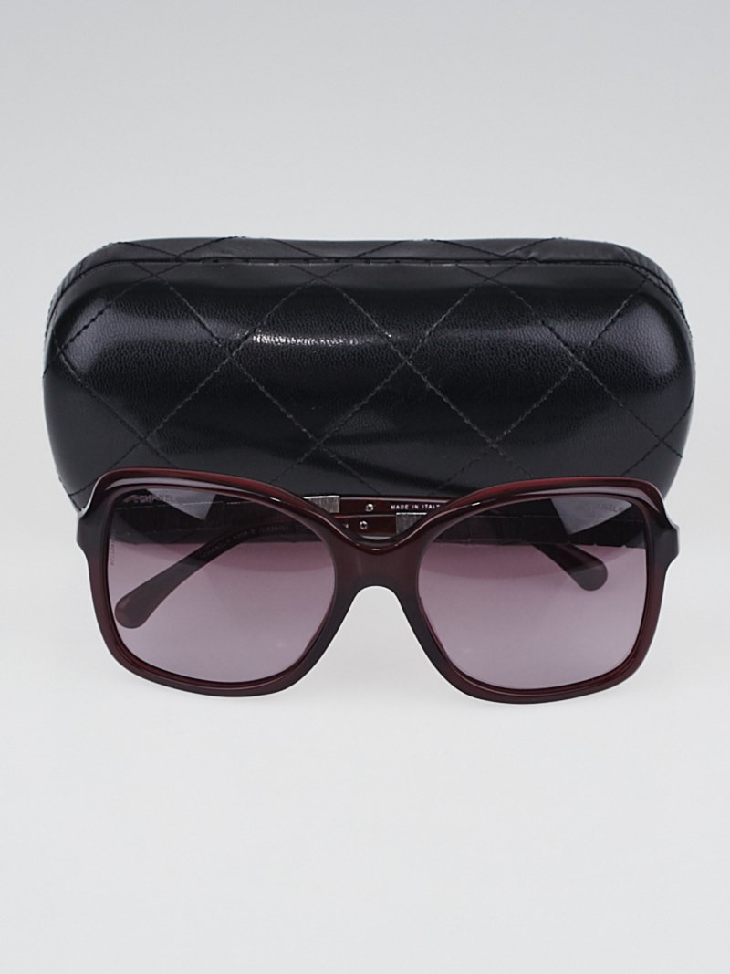 Chanel Square Frame Glasses : Chanel Red Square Acetate Frame and Crystals Bijou ...