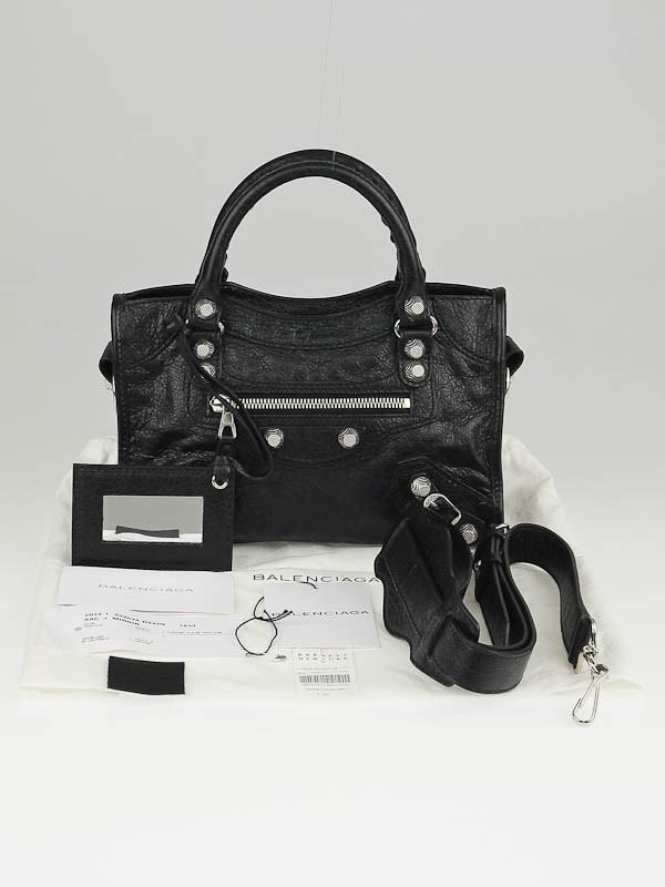 Balenciaga Mini City Black Silver
