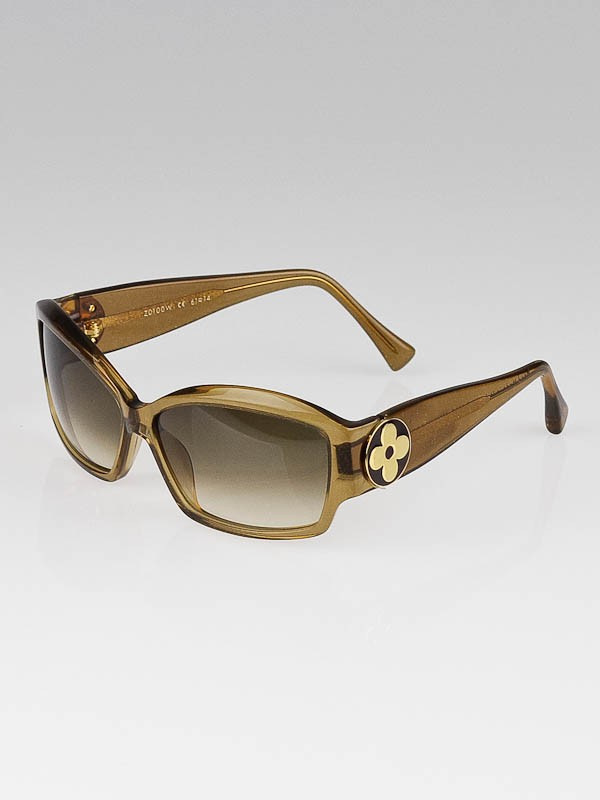 Louis Vuitton Gold Frame Sunglasses : Louis Vuitton Gold Speckling Acetate Frame Ursula PM ...