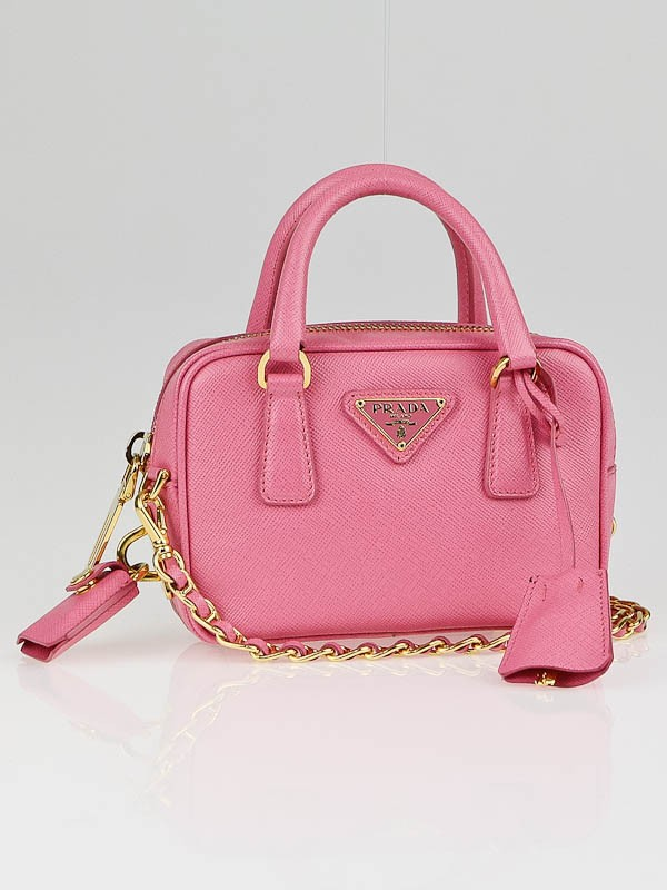 Prada Geranio Saffiano Leather Mini Cross-Body Bag BL0705 ...
