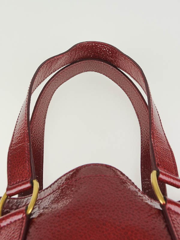 Yves Saint Laurent Red Patent Leather Small Downtown Bag - Yoogi\u0026#39;s ...