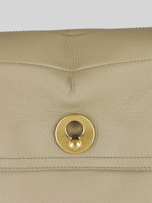 Yves Saint Laurent Khaki Leather/Canvas Large Muse Two Bag ...