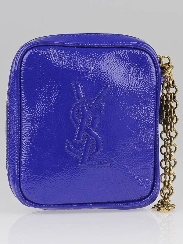 saint laurent classic baby duffle bag - Yves Saint Laurent Royal Blue Patent Leather Belle de Jour Mini ...