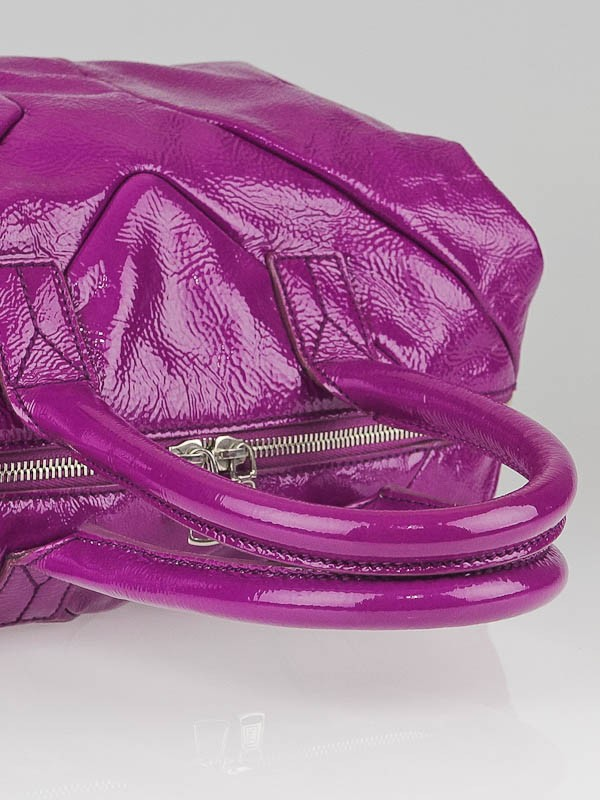 Yves Saint Laurent Pink Patent Leather Small Easy Y Zip Bag ...