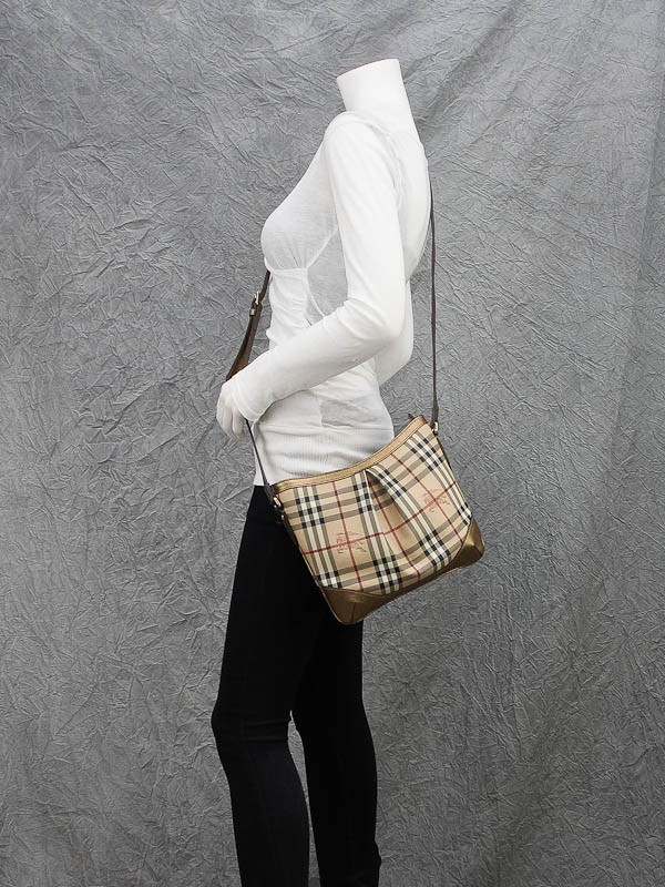 ... Burberry Haymarket Check Coated Canvas Crossbody Bag ...