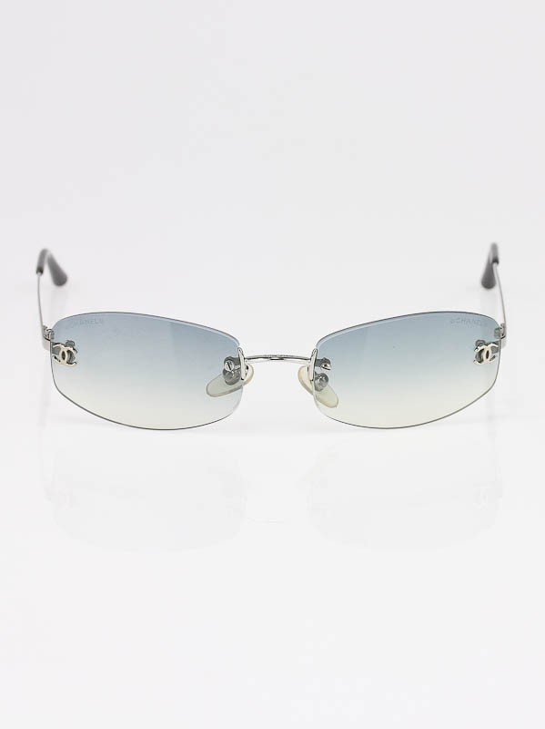 Rimless Chanel Glasses : Chanel Grey Gradient Rimless Sunglasses 4002 - Yoogis Closet
