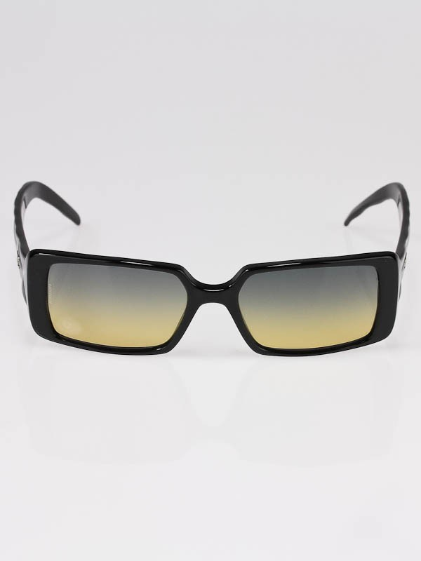 Chanel Black Frame Quilted CC Logo Sunglasses- 5045 ...