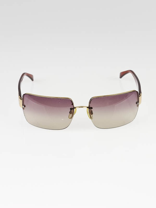 Gold Frame Chanel Sunglasses : Chanel Gold Metal Frame Brown Tinted Lens CC Logo ...
